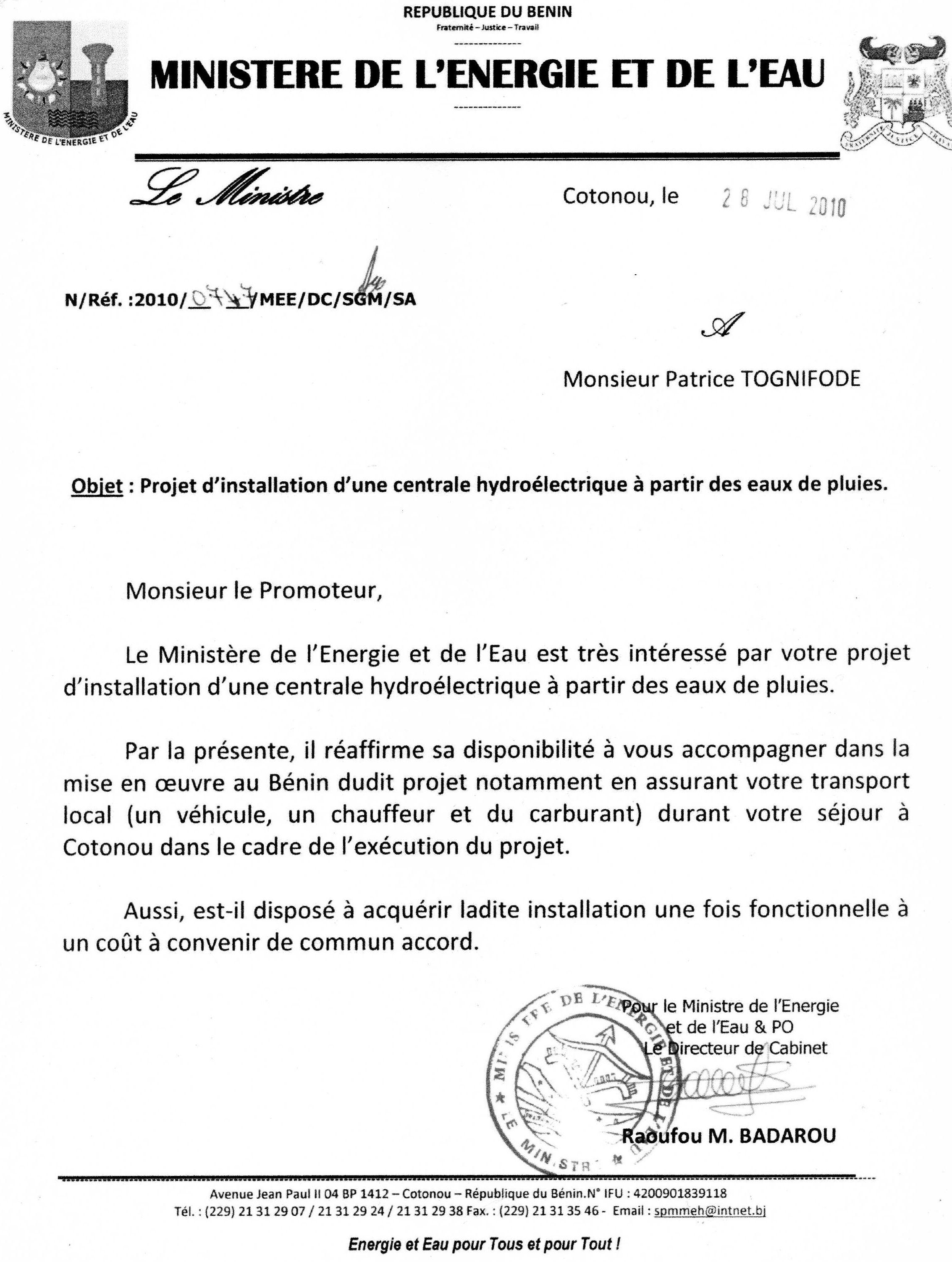 Ministere-energie-Benin